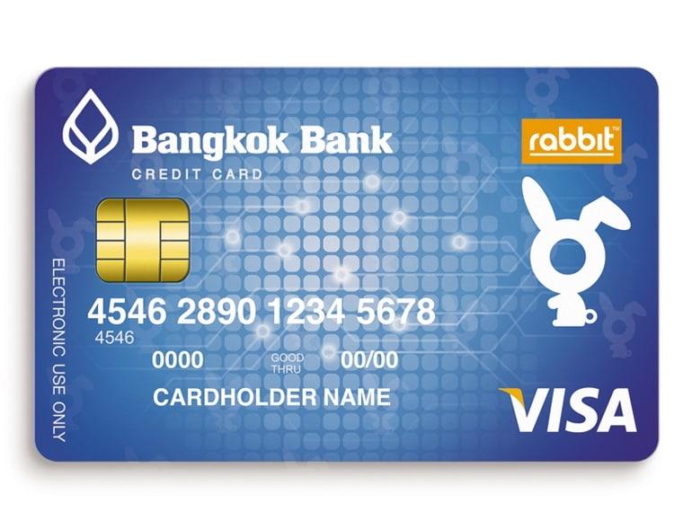 ทำบัตรเครดิตธนาคารกรุงเทพ แรบบิท